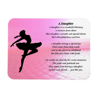 Ballerina Design - Daughter Poem magnet