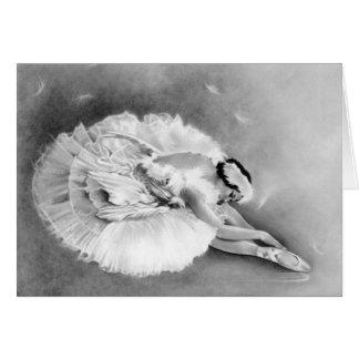 Ballerina Dying Swan Card