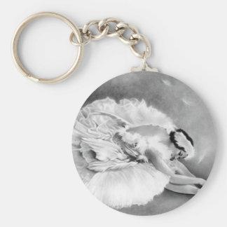 Ballerina Dying Swan Keychain
