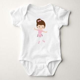 Ballerina emoji baby bodysuit
