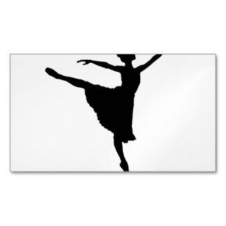 BALLERINA En Pointe (Ballet Dancer silhouette) ~.p Magnetic Business Cards