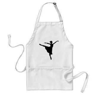 BALLERINA En Pointe (Ballet Dancer silhouette) ~ Standard Apron