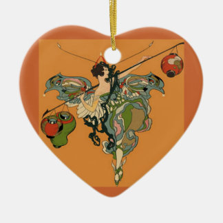 Ballerina Faerie With Lanterns Christmas Ornament