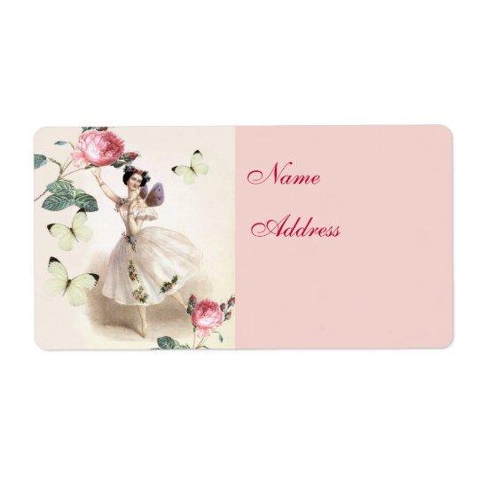 Ballerina Fairy Address Shipping Label
