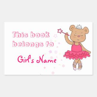 Ballerina Fairy Bear book label