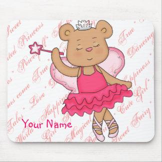 Ballerina Fairy Bear Cute Mousepad for girls