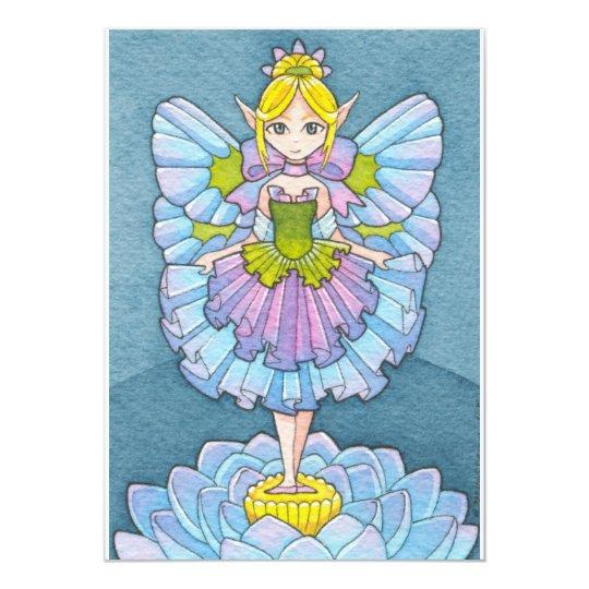 Ballerina Fairy Birthday Invitation Moussart