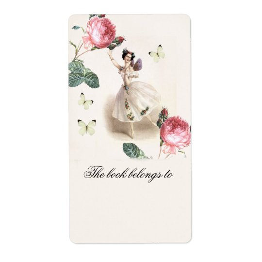 Ballerina Fairy Bookplate Shipping Label