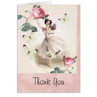 Ballerina Fairy Thank you Card