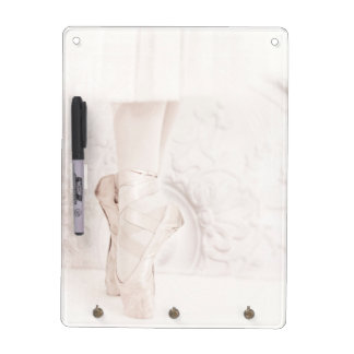 Ballerina feet in pointe shoes dry erase board