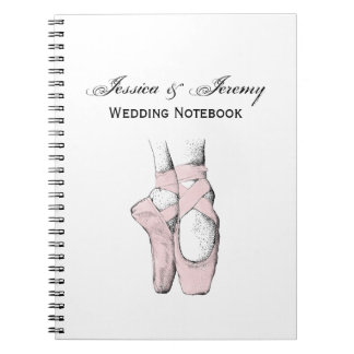 Ballerina Feet on Pointe #1 Lt Pink Spiral Notebook