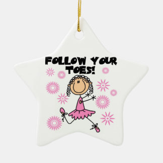 Ballerina Follow Your Toes T-shirts and Gifts Christmas Ornament