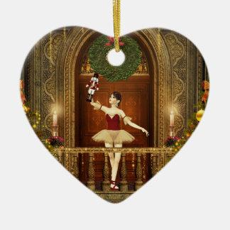 Ballerina Fröhliche Weichnachten Heart Ornament