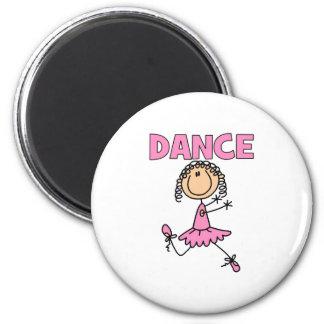 Ballerina Girl 6 Cm Round Magnet