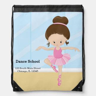 Ballerina girl drawstring backpack