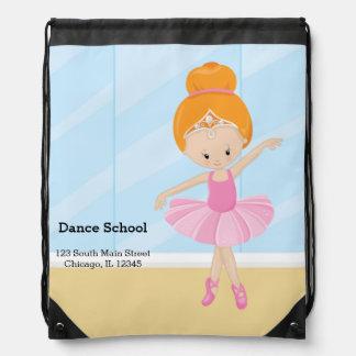 Ballerina girl drawstring bags