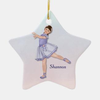 Ballerina Girl Pastel Ceramic Star Decoration