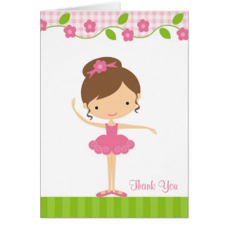 Ballerina Girl Thank You Card