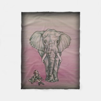 Ballerina Girl with Elephant Fleece Blanket