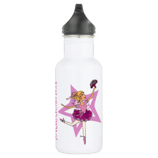 Ballerina girls named purple drinks bottle