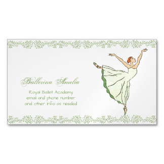 Ballerina Grace Magnetic Business Cards