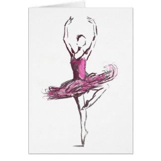 Ballerina Greetings Card. Greeting Card