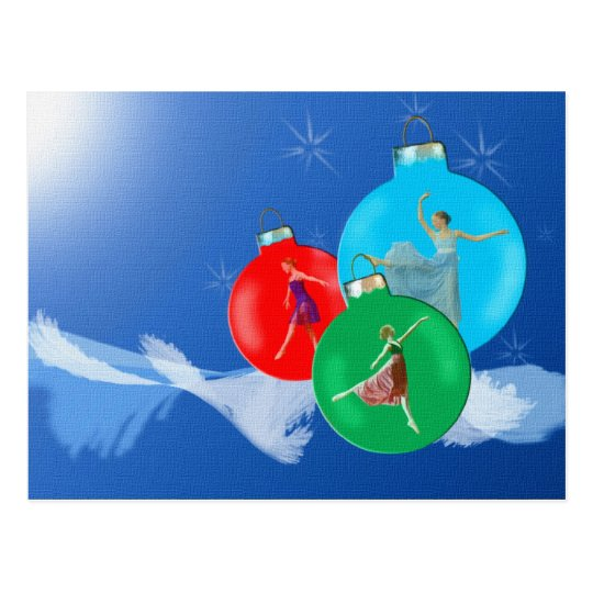 Ballerina Holiday Postcard