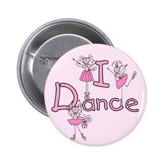 Ballerina I Dance T-shirts and Gifts Button