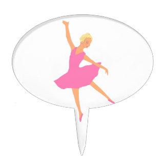 Ballerina in a Pink Tutu Cake Pick