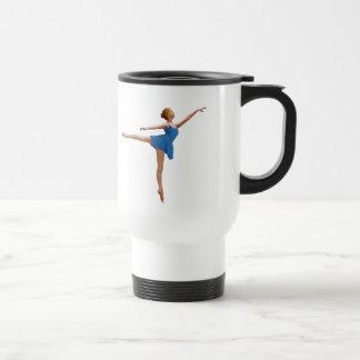 Ballerina in Arabesque Customizable Stainless Steel Travel Mug