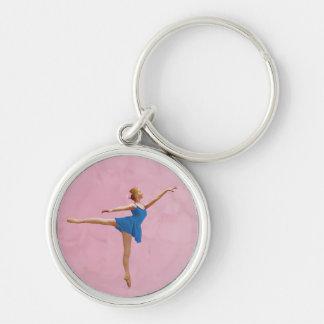 Ballerina in Arabesque Pose Customizable Keychain