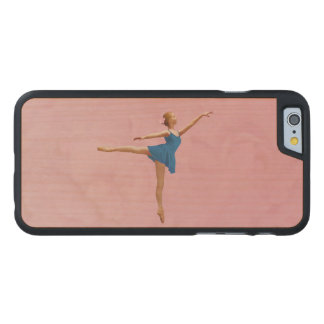 Ballerina in Arabesque Position Carved® Maple iPhone 6 Case