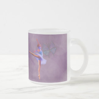 Ballerina in Arabesque Position in Purple and Blue Coffee Mug