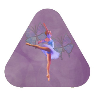 Ballerina in Arabesque Position in Purple and Blue