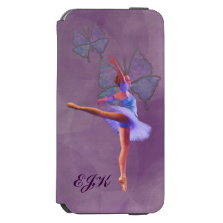 Ballerina in Arabesque Position, Monogram Incipio Watson™ iPhone 6 Wallet Case