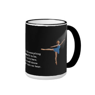 Ballerina in Arabesque Position Mug
