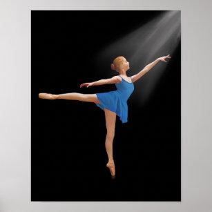 Ballerina in Arabesque Position Poster
