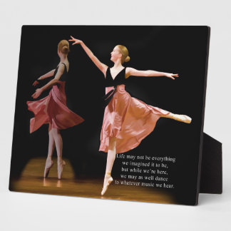 Ballerina in Black and Red Plaque