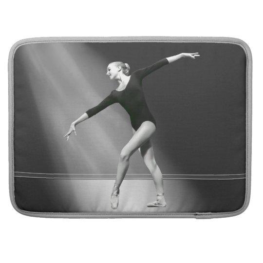 Ballerina in Black and White Customisable Sleeve For MacBooks
