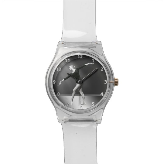 Ballerina in Black and White Customisable Watch