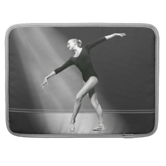 Ballerina in Black and White Customizable Sleeve For MacBooks