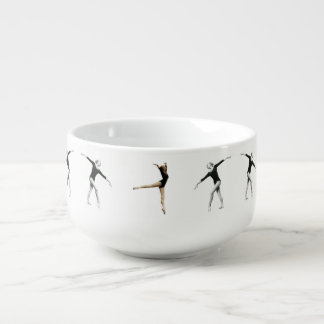 Ballerina in Black and White Customizable Soup Mug