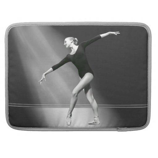 Ballerina in Black and White MacBook Pro Sleeve