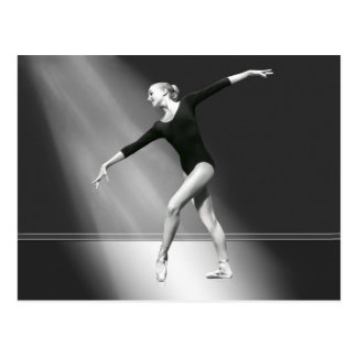 Ballerina in Black and White Postcard