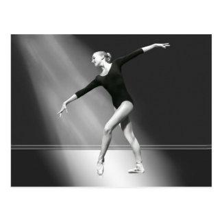 Ballerina in Black and White Postcard