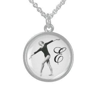 Ballerina in Black and White with Monogram Custom Jewelry
