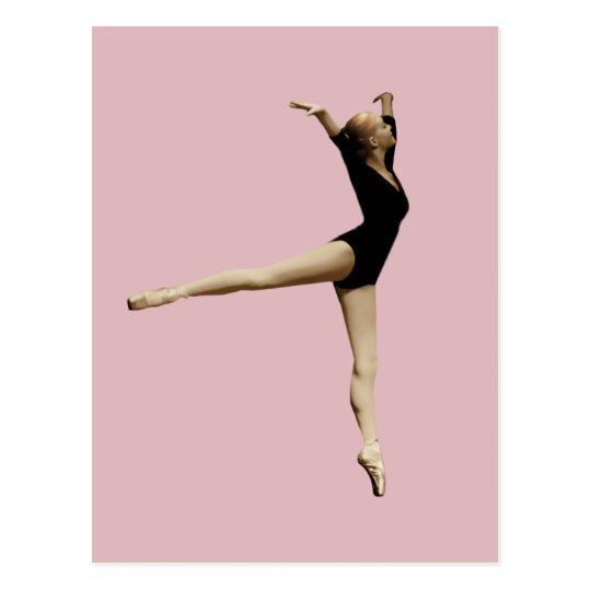 Ballerina in Black Customisable Postcard