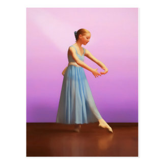 Ballerina in Blue Postcard