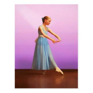 Ballerina in Blue Postcard