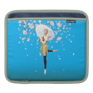 Ballerina in Cherry Blossoms iPad Sleeves